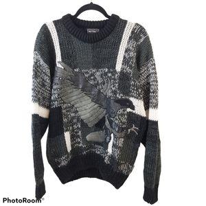 Vintage Instinct Eagle Chunky Grandpa Knit Sweater